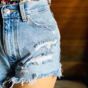ZARA High waisted Denim Shorts Sz 4